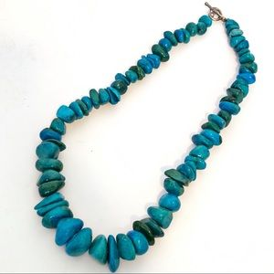 Jewelry - BOHO Faux Turquoise Stone Chunky Collar Necklace